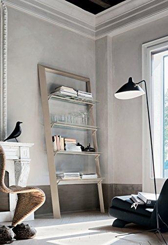 Book Libreria con mensole in vetro design soggiorno sala - Corda cm ...