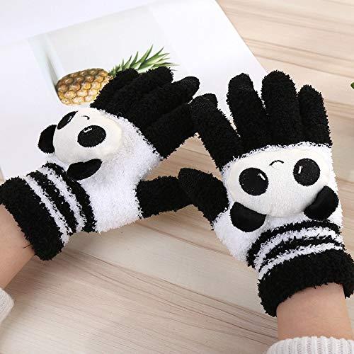 ZHANGYUGEGE Frau Winter warm Cute Cartoon Panda Cat Kaninchen Stricken Handschuhe Mädchen Frauen Mode Coral Fleece Full Finger Handschuhe Handschuhe, Transparent - Stricken Kaninchen