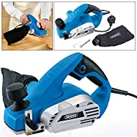 Draper 610W 230V Electric Power Planer 82mm Wood Plane with Rebating Facility and Dust Bag 20513