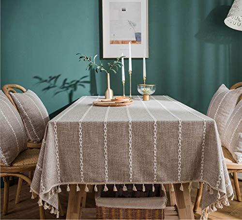 nappe anti taches restaurant decor taffel tissu coton et lin maison table basse table a manger