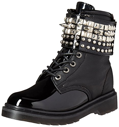 Demonia RIVAL-106 Blk Vegan Leather-Blk Pat