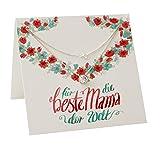 Geburtstagsgeschenk für Mama ❤️ ❤️ Geschenk-Ideen Mutter zum Geburtstag Kette Schmuck Silber 925 kleine Geschenke von Kindern für Mutti personalisiert Danke Mama Geschenk FF85SS925ZIFA45-15