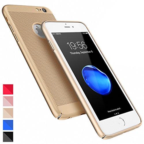 Coque iPhone 6 Ultra Slim PC-Coque iPhone 6s Case HZRICH[Ecran en Verre Trempé Protecteur]Anti-Rayures, Anti-dérapante,Léger[Série respirante]Coque Housse Bumper Cover pour iPhone 6/6s-4.7pouces-Noir OR