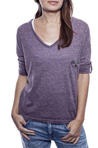 Ella Manue Frauen Boxy Shirt Mia Violett