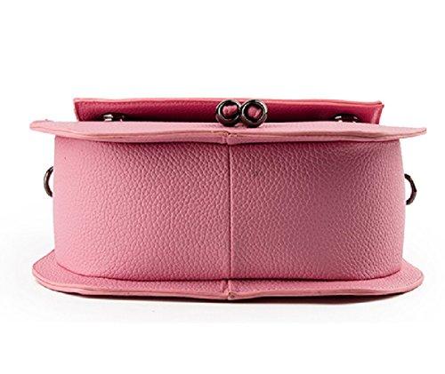 Damen Tasche Shopper Leder Lässig Kleine Handtasche Umhängetaschen Schulranzen Mädchen rosa