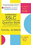 Oswaal Karnataka SSLC Question Bank & Complete Solution Solved Paper with Toppers Ans. Class 10 Social Science - 2018 Exam
