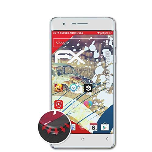 atFolix Schutzfolie passend für Oukitel K4000 Folie, entspiegelnde & Flexible FX Bildschirmschutzfolie (3X)