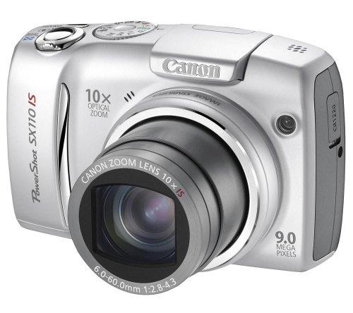 Canon PowerShot SX110 IS Digitalkamera (9 Megapixel, 10-fach opt. Zoom, 7,6 cm (3 Zoll) Display, Bildstabilisator) silber