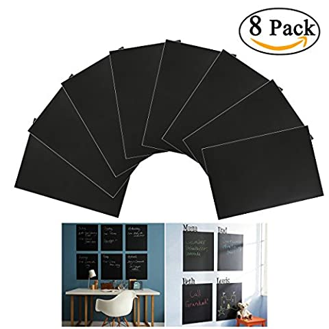 Tableau Ardoise De Cuisine - NUOLUX 8pcs A4 Tableau Noir Ardoise Sticker