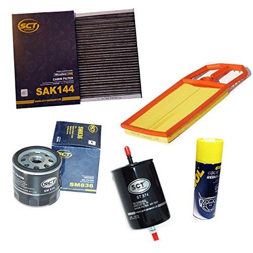 Preisvergleich Produktbild Inspektionspaket SCT Aktivkohle Pollenfilter VW Golf 4 1.4 16V & 1.6 16V (55/77kW) Luftfilter Ölfilter Kraftstofffilter Geschenk