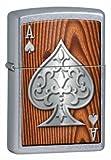 Zippo 13M034Briquet à essence, laiton, chrome, 5,70x 3,70x 1,20cm