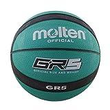 MOLTEN BGR5GK - Balón de baloncesto, Tamaño 5, Verde y Negro