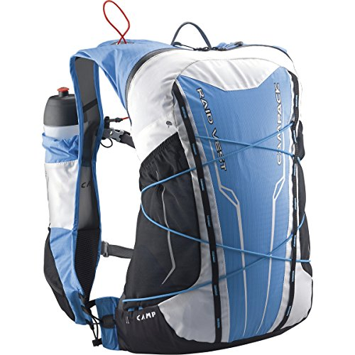 Camp Raid Vest - Blue / White - - Geräumiger komfortabler Trail Rucksack, 20l Blau