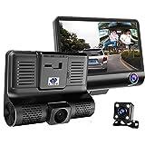 E-ACE Car Dvr 3 Camera Lens 4.0 Inch Video Recorder Dash Cam Auto