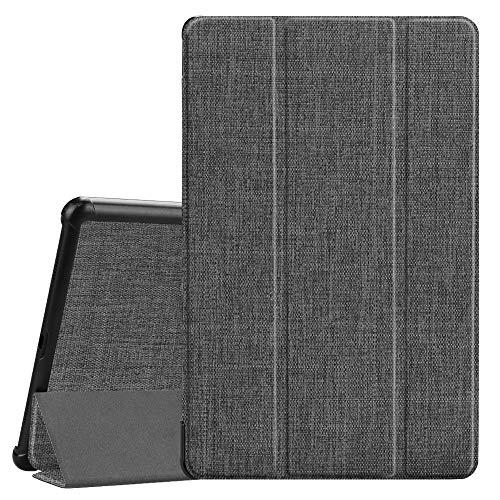 Fintie Hülle für Samsung Galaxy Tab A 10.5 2018 - Ultra Schlank Superleicht Schutzhülle Cover Case mit Auto Schlaf/Wach Funktion für Galaxy Tab A SM-T590/T595 10.5 Zoll Tablet-PC, Stoff dunkelgrau
