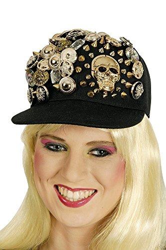 ld - Tolle Mütze zu Rocker Punk Show 80er Jahre Party Kostüm (Glam-rocker Halloween Kostüm)
