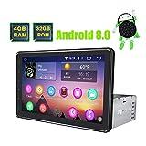 JOYFORWA Autoradio Android 8.0 4GB + 32GB Octa Core 8 Zoll Einzelnes Din GPS Navigation Unterstützung 4K Video Schneller Boot DVR Ersatzkamera WIFI AUX AV Ausgang SWC OBD2 SD USB HDD