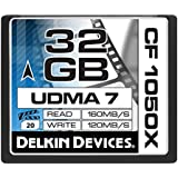 Delkin Devices DDCF1050-32GB Carte Mémoire CompactFlash 32 Go