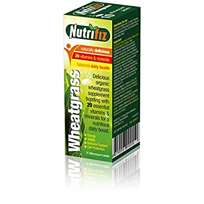 Nutrifiz® Wheatgrass Powder Effervescent Tablets with Vitamins and Minerals from Nutrifiz