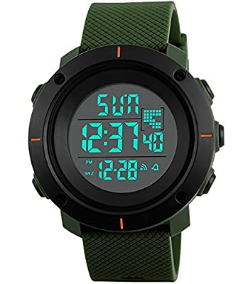 Mens Boys Military Digital Fashion Sports Watch LED Back Light 50M Waterproof Big Face Watches for Men Business Casual Simple Electric Wrist Watch - low-cost UK light shop.