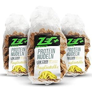 ZEC+ PROTEIN Low Carb NUDELN 3er Pack   leckere und kalorienarme Pasta mit Proteinen   sehr wenige Kohlenhydraten Low Carb   hoher Ballaststoffanteil   3x 250g