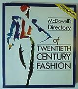 Mcdowell's Directory of Twentieth Century Fashion by Colin McDowell (1987-11-19)