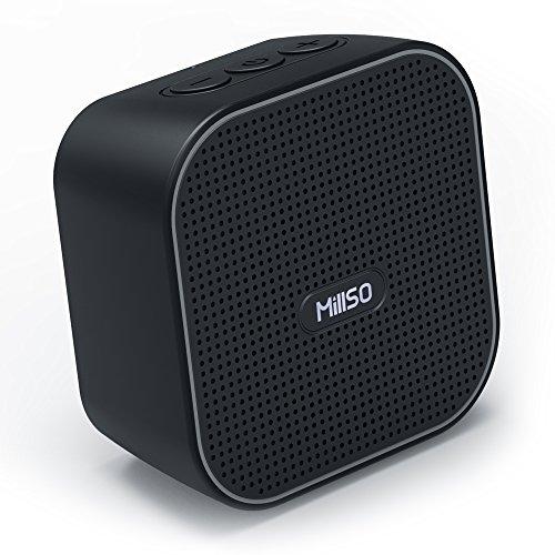 Mini Portable Bluetooth Lautsprecher V4.2, MillSO BV170 Mobiler Wireless Speaker mit 1000mAh Akku, Großem Sound und integriertem Mikrofon mit Fahrrad Band für Radfahren, Wandern und anderen Außen Sport