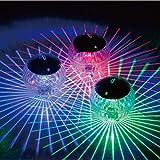 SoundJA Solar Poolbeleuchtung Pool Licht Teichbeleuchtung Unterwasser Licht Schwimmende Lampen Solar Schwimmkugel Multifarbige für Blumenvase Pool Teich Dekoration Wasserdicht Farbwechsel (Mehrfarbig)