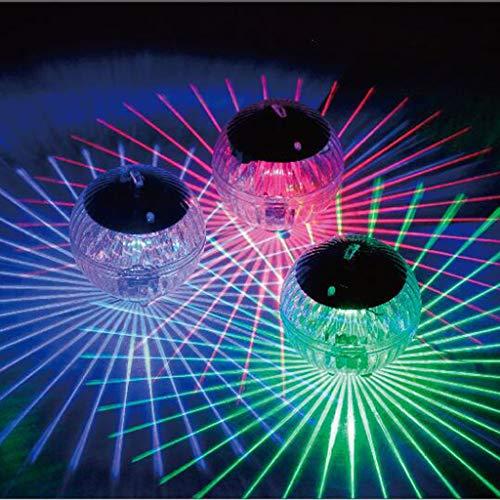 Igemy Schwimmendes Licht Wasserdichte LED Solar Power Multi Farbe Wasser Drift Lampe ändern (Mehrfarbig)