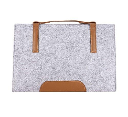 Preisvergleich Produktbild aoauto® 33cm aus Wolle Filz Notebook Sleeve Schutzhülle Tasche