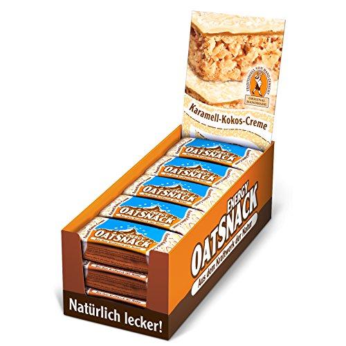 Energy OatSnack, natürliche Riegel - von Hand gemacht, Karamell-Kokos-Creme, 15x65g, 1er Pack (1 x 975g) (Kokos-milch-creme)
