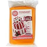 CAKE MART Fondant, Orange, 250 g