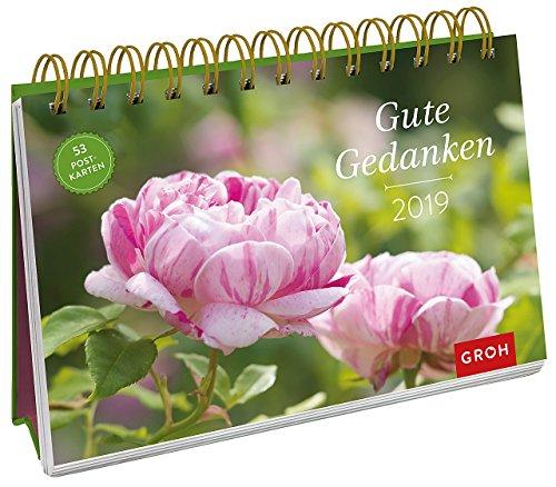 Gute Gedanken 2019: PostkartenKalender mit separatem Wochenkalendarium (Mutter Natur Kalender)