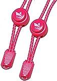 Taipa Laces - Schnellschnürsystem I Elastische Schnürsenkel mit Schnellverschluss für Kinder und Sportler (Pink)