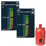 AGT Gasmesser: 2er-Set Gasstand-Anzeiger für Gasflaschen, 22-stufige Skala (Füllstandsanzeige Gasflaschen)