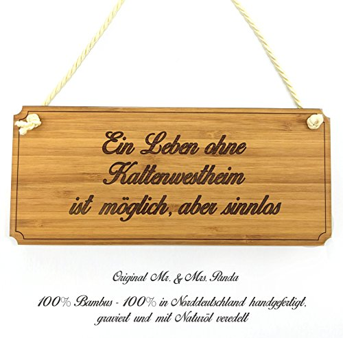 Mr. & Mrs. Panda Türschild Stadt Kaltenwestheim Classic Schild - Gravur,Graviert Türschild,Tür Schild,Schild, Fan, Fanartikel, Souvenir, Andenken, Fanclub, Stadt, Mitbringsel