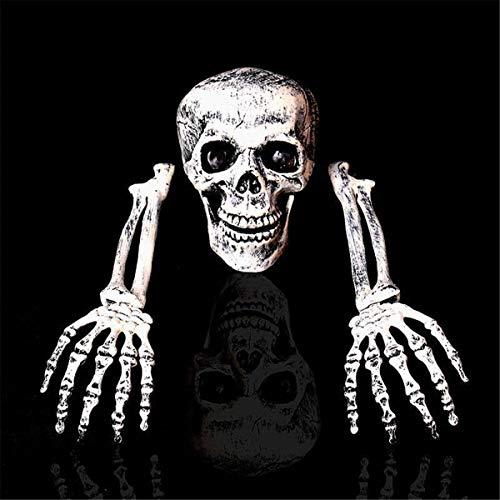 Horror-Skelett-Dekorations-Hauptknochen-Schädel-Hand Halloween Im Freien Innen ()