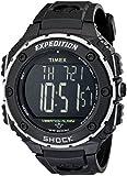 Timex Men's 48mm Black Rubber Band Steel Case Acrylic Crystal Quartz Digital Watch T499509J