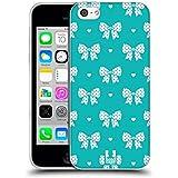 Head Case Designs Zyan Und Weiss Band Muster Soft Gel Hülle für Apple iPhone 5c