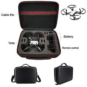 Amz_fr® DJI TELLO Drone Valise, Sac à bandoulière Couverture PU + EVA Intérieur Étanche Pour DJI TELLO Drone Brand New