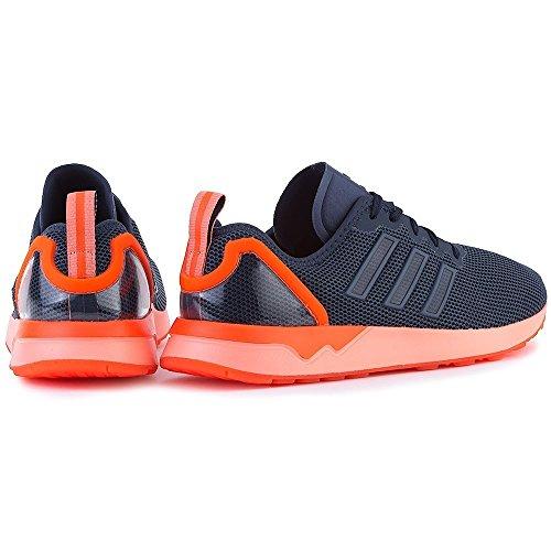adidas Zx Flux Adv, Mocassins Homme Orange-Bleu marine
