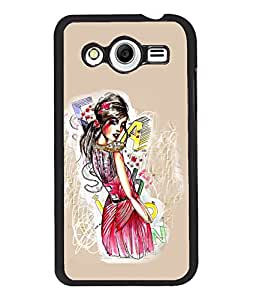 Fuson Style Girl Back Case Cover for SAMSUNG GALAXY CORE 2 - D3895