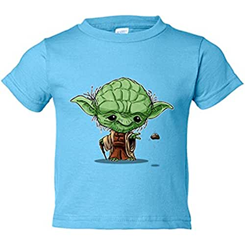 star wars kawaii Camiseta niño Chibi Kawaii Maestro Yoda parodia de Star Wars Nikochan