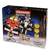 Carrera Digital 132 Formula Racers Autobahn digitale Rennautobahn mit Spurwechsel inkl. Formel 1 Autos 30129