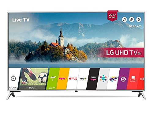 LG 43UJ651V 43 Inch SMART 4K Ultra HD HDR LED TV Freeview Play USB Record (Certified Refurbished)