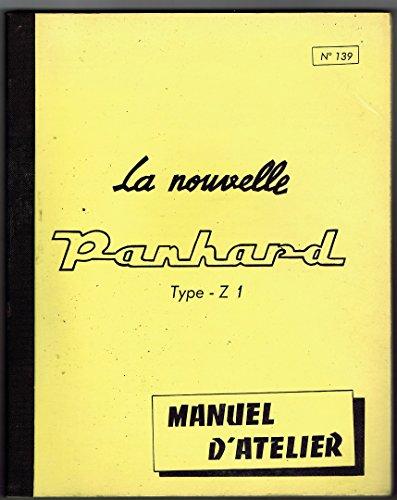Manuel d'atelier, n 139 : Panhard, type - Z 1