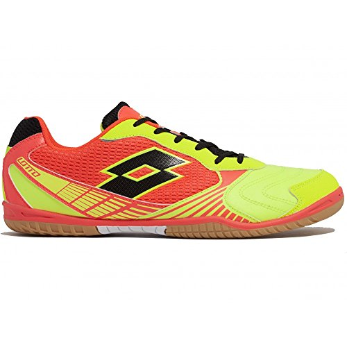 Lotto Tacto II 500, Chaussures de Foot Homme Multicolore - Amarillo / Negro (Ylw Saf / Blk)