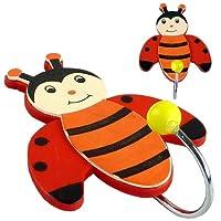 Childrens Ladybird Coat Hooks (2 Pack)