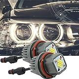 B-M-W Angel Eyes E39 E60 LCI Halo Ringlicht E61 LED Halo Ring Light Marker LED Ringe 80W CREE Licht Error Free E53 E63 E64 E65 E66 5 6 7 Serie X3 X5 Xenon Weiß 6000K (2 Stück)