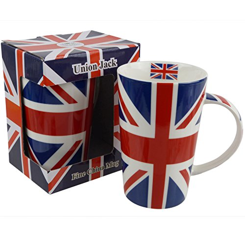 The Leonardo Collection Hoch Union Jack Latte China Tasse Rot Weiß Blau Flagge UK